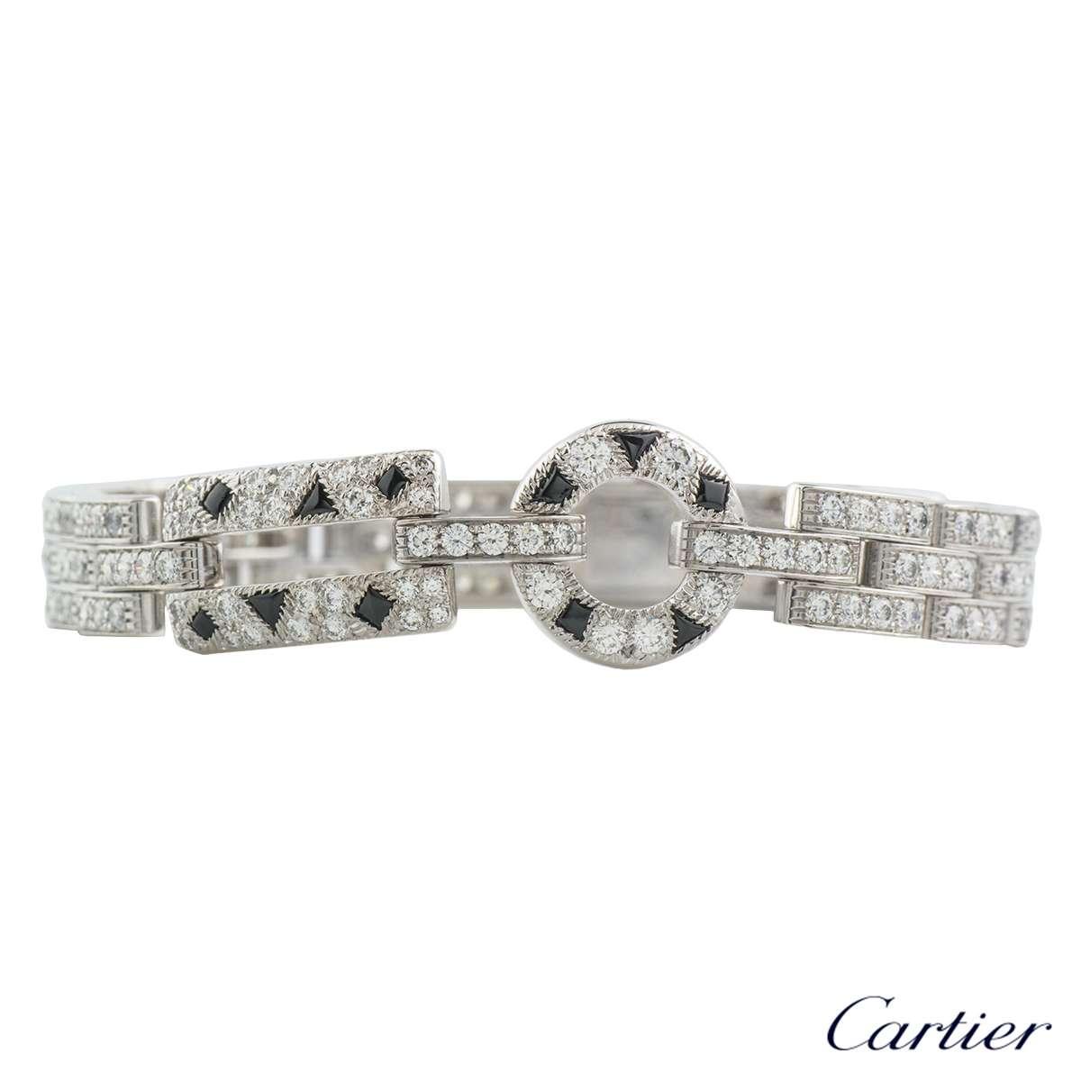 Cartier Infinity Bracelet: Cartier Panthere De Cartier Diamond & Onyx Bracelet